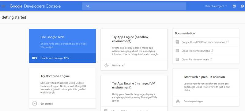 enable and manage google api