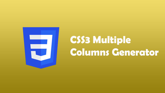 CSS3 Multiple Column Generator