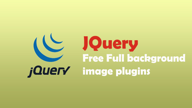 Free jquery full background image plugin