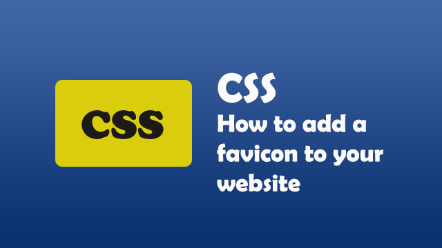 How to add a favicon to your website?