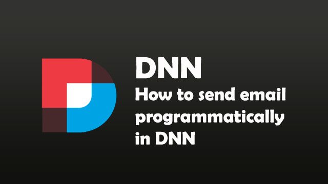How to send email programatically in dnn?