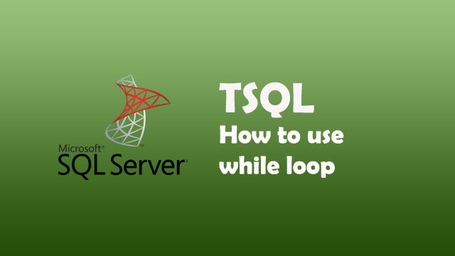 How to use while loop in Sql Server?