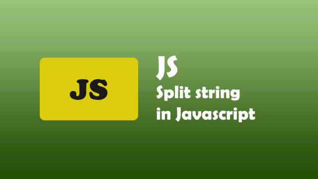 How to split string in Javascript?