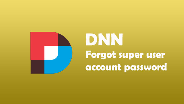 Forget your super account password login completely in DNN?