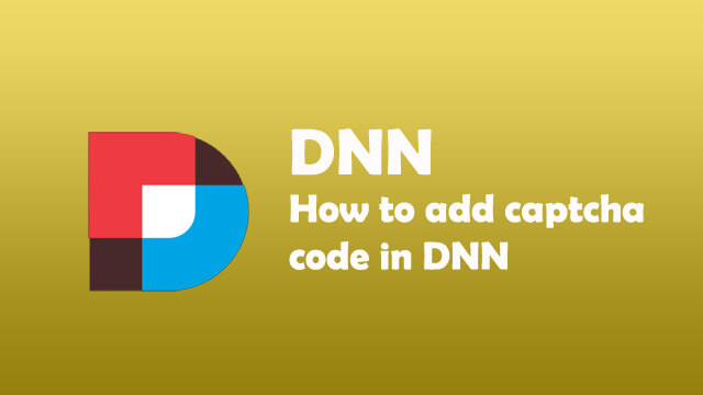 How to add captcha code in DNN form?