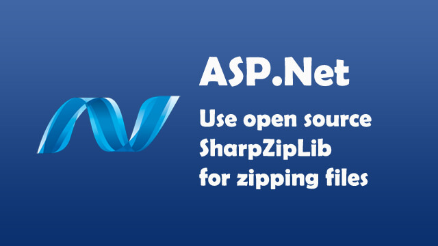 How to use open source SharpZipLib library for zipping files in .Net?