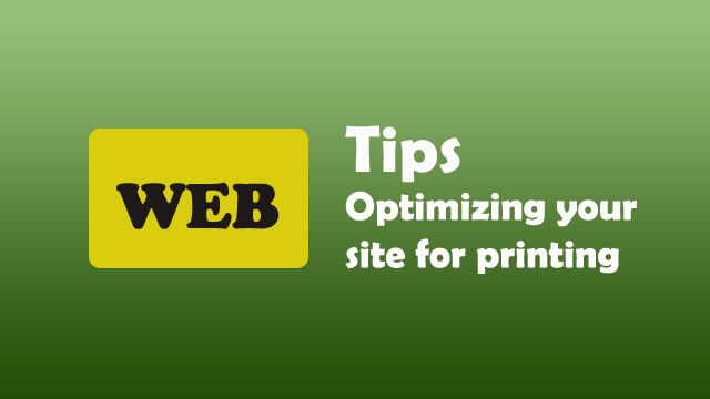 Optimizing your site for printing