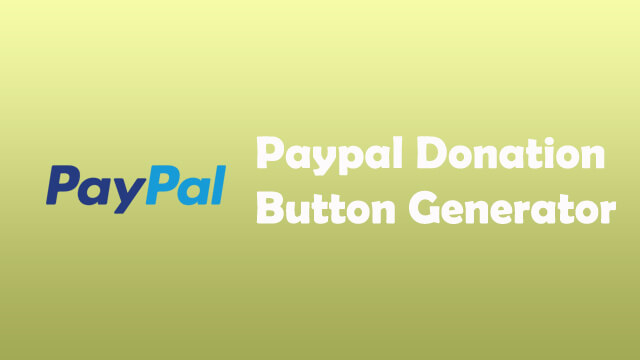 Paypal Donation Button Generator