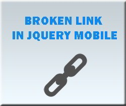 Issue with hyperlinks when including JQuery mobile script in html page