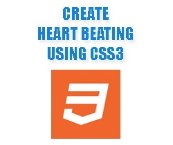 Create Heart beating using CSS3 Animation
