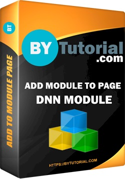 Free DNN Module Add Module to Page