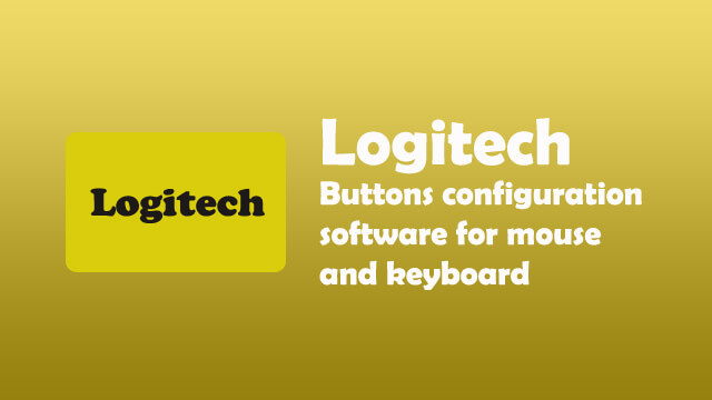 Logitech buttons configuration software for mouse and keyboard