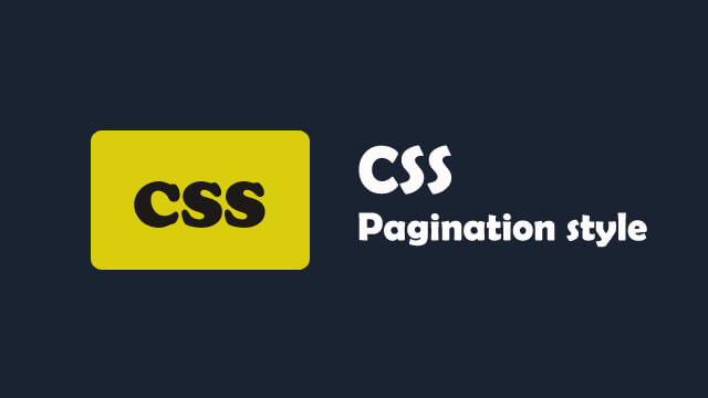 How to style pagination links with CSS?