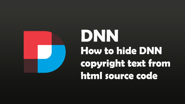 How to hide DNN copyright text from html source code?