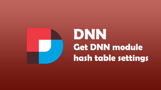 How to get module setting hash table outside from DNN Module setting?