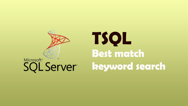 How to order the SQL query result by best match keyword search?