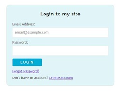 How to create login form template using HTML5 and CSS3?