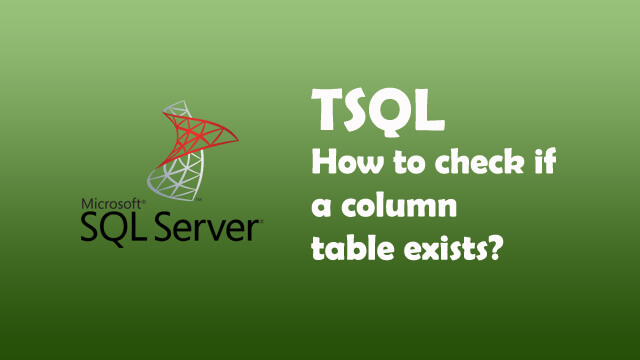How to check if a column exists in a Sql Server table?
