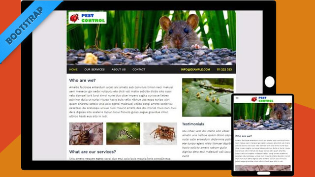 Free Bootstrap Template - PestControl Theme