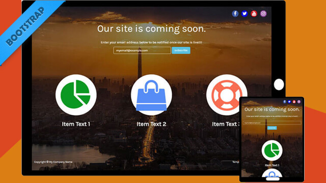 Free Bootstrap Template - ComingSoon Theme