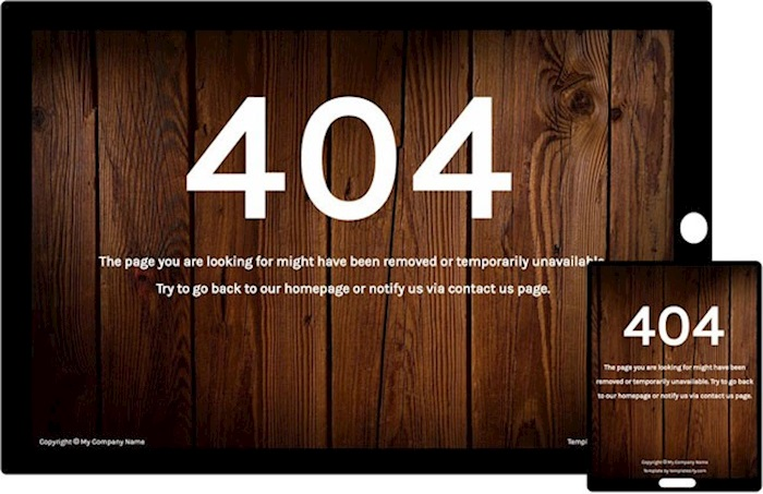 Free Bootstrap Template - 404Woody Theme