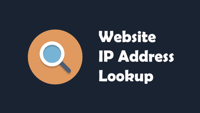 Website IP Address Lookup