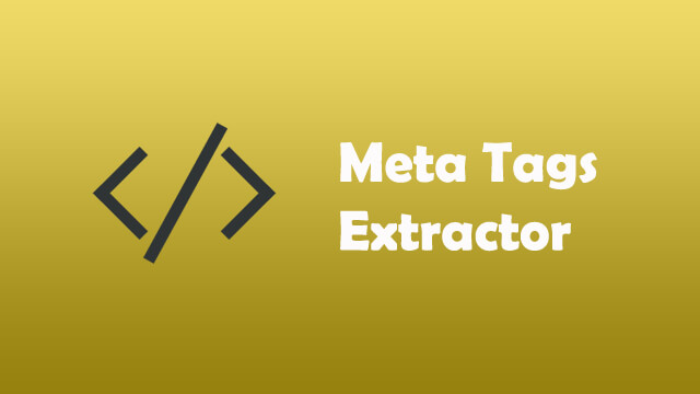 Meta Tags Extractor