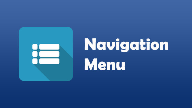 Navigation Menu Design