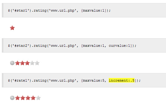JQuery Half Star Rating